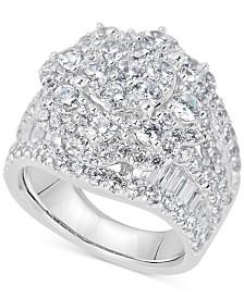 Diamond Cluster Ring (4 ct. t.w.) in 14k White Gold