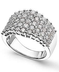 Diamond Multi-Row Ring (2 ct. t.w.) in 14k White Gold