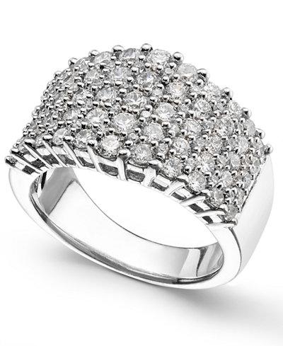 Diamond Multi-Row Ring (2 ct. t.w.) in 14k White Gold