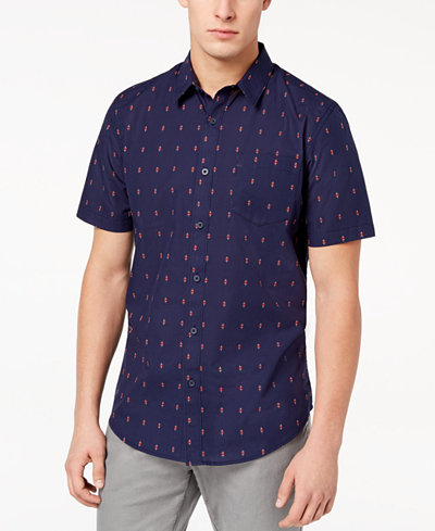 American Rag Men's Diamond Print Shirt, Created for Macy's