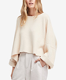 Free People I Can't Wait Cropped Oversized Sweater