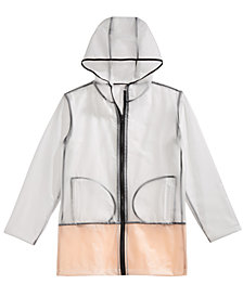 Ideology Transparent Hooded Rain Jacket, Little Girls, Created for Macy's
