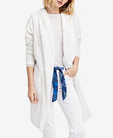 Free People Oh Pretty Daze Cotton Hooded Cardigan