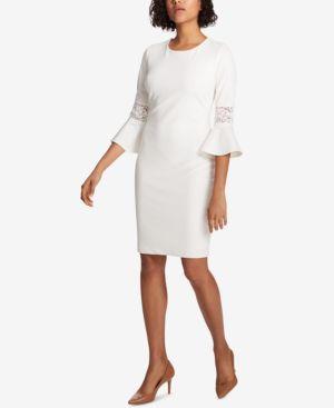 LACE-TRIM SHEATH DRESS