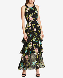 Tommy Hilfiger Printed Ruffled Maxi Dress