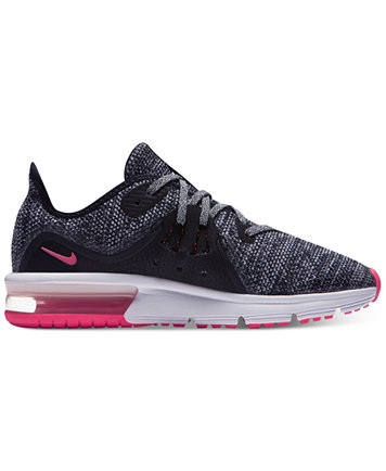 Image 1 of Nike Big Girls' Air Max Sequent 3 Running Sneakers from Finish  Line