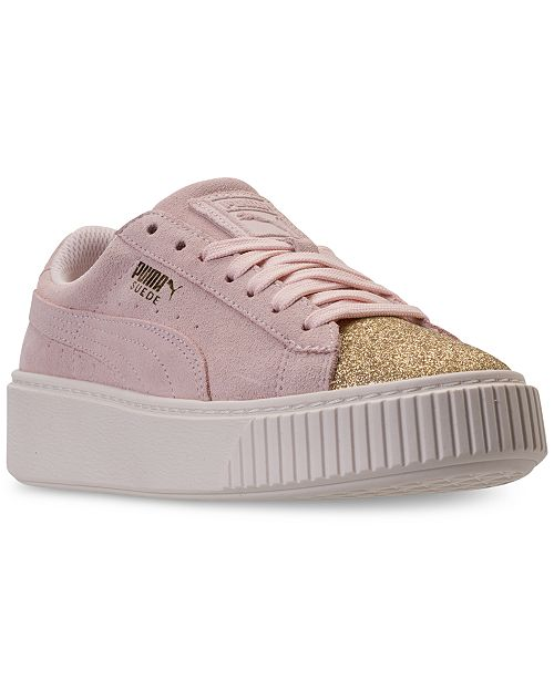 b656abb1248 Puma Big Girls  Suede Platform Glam Casual Sneakers from Finish Line ...