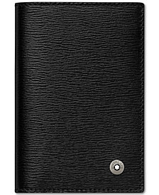 Montblanc 4810 Westside Black Italian Leather Business Card Holder