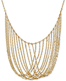 "Multi-Chain 17"" Statement Necklace in 14k Gold"