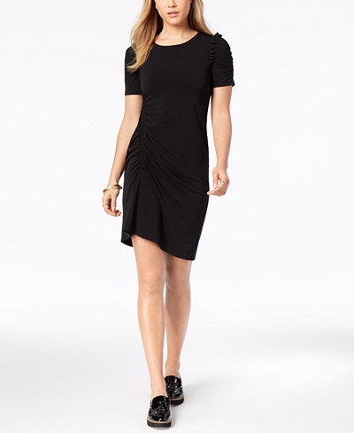 Bar III Ruched A-Line Dress, Created for Macy's