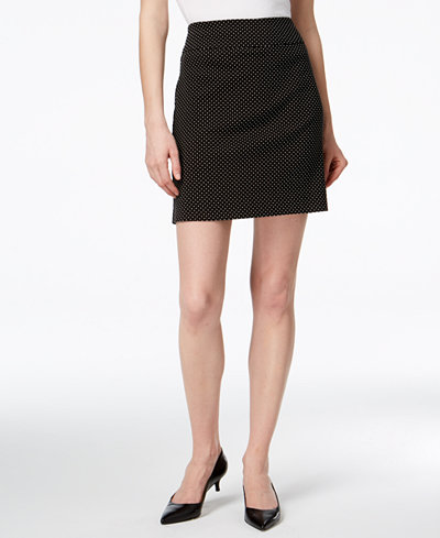 Charter Club Printed Tummy-Control Pull-On Skort, Created for Macy's