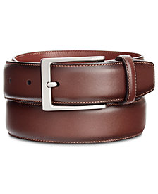 Perry Ellis Portfolio Men's Leather Amigo Dress Belt