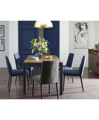 Furniture Gatlin Dining Furniture, 7-Pc. Set (Dining Table & 6 Blue ...