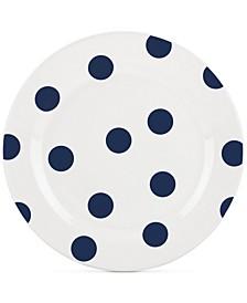CLOSEOUT! All in Good Taste Deco Dot 4-Pc. Cobalt Salad Plate Set