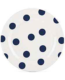 kate spade new york All in Good Taste Deco Dot 4-Pc. Cobalt Salad Plate Set