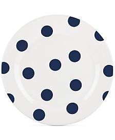 CLOSEOUT! kate spade new york All in Good Taste Deco Dot 4-Pc. Cobalt Salad Plate Set