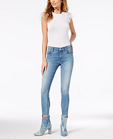 7 For All Mankind Ankle Skinny with Step-Hem Jeans