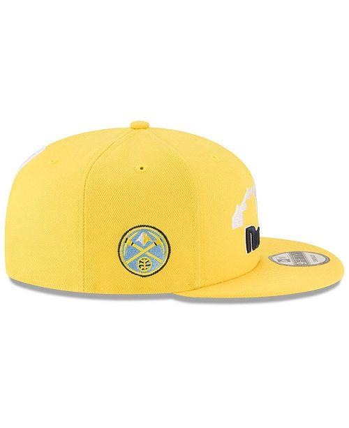 timeless design 19fa3 95b23 ... New Era Denver Nuggets Statement Jersey Hook 9FIFTY Snapback Cap ...