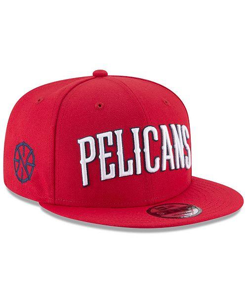 fe9ff54645c2d ... New Era New Orleans Pelicans Statement Jersey Hook 9FIFTY Snapback Cap  ...