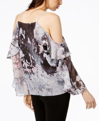 Image 2 Of Bar III Printed Cold Shoulder Top, Created For Macyu0027s
