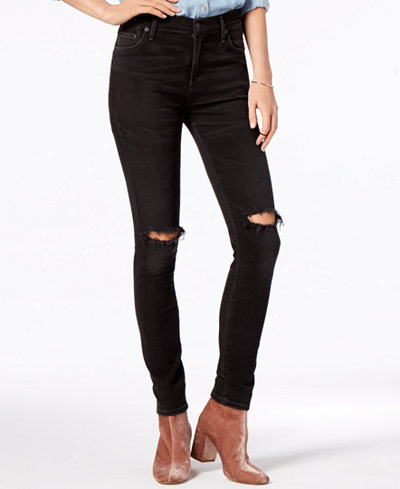 Citizens of Humanity Rocket High Rise Ripped Skinny Jeans