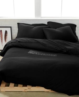 Calvin Klein Modern Cotton Harrison Black Full/Queen Duvet Cover Bedding