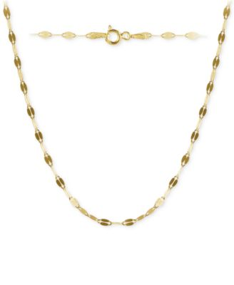 "Twisted 24"" Chain Link Necklace in 18k Gold-Plated Sterling Silver, Created for Macy's"