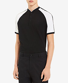 Calvin Klein Men's Colorblocked Raglan-Sleeve Crewneck Polo