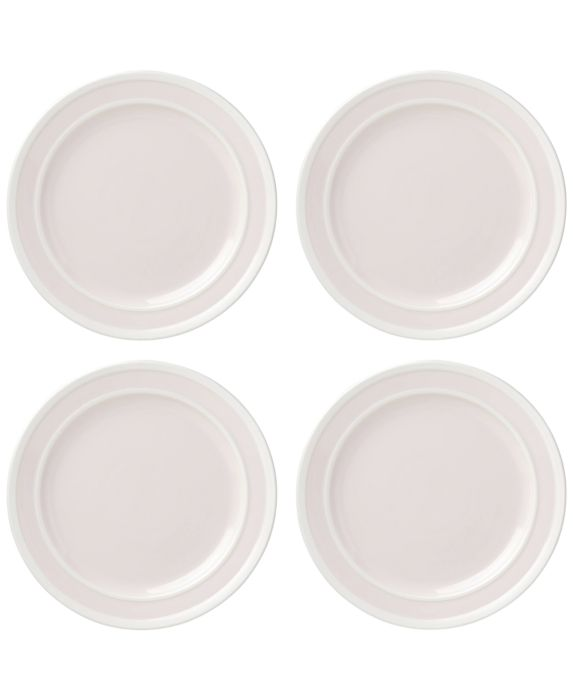 kate spade new york All in Good Taste 4-Pc. Sculpted Stripe Blush Dinner Plate Set, White, Size: DINNER PL