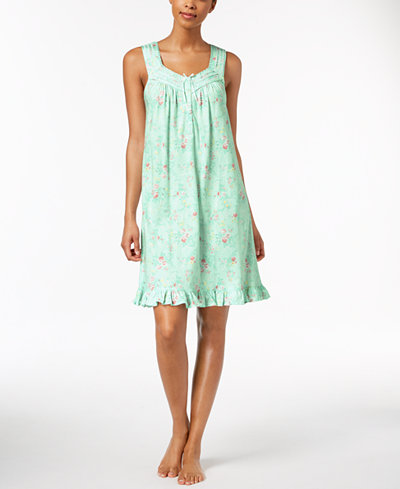 Charter Club Lace-Trim Ruffle-Hem Chemise, Created for Macy's