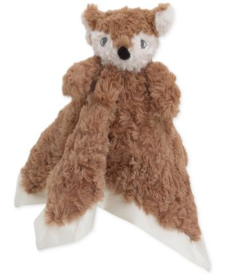 Luxury Plush Security Blanket Brown Fox