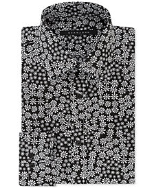 Sean John Men's Classic/Regular Fit Black and White Print Dress Shirt