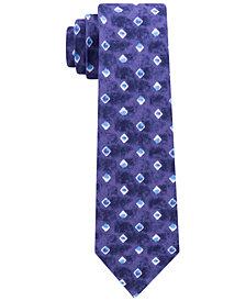 Tommy Hilfiger Men's Indigo Squares Slim Tie