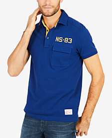 Nautica Men's NS-83 Embroidered Appliqué Polo