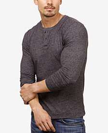 Lucky Brand Men's Mock Neck Button Henley
