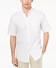 Club Room Men's Banded Collar Shirt, Created for Macy's