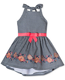 Rare Editions Embroidered Halter Dress, Baby Girls