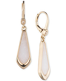 Ivanka Trump Geometric Stone Drop Earrings