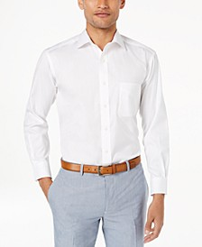Men's Slim-Fit Pinpoint Solid French Cuff Dress Shirt, Created for Macy's