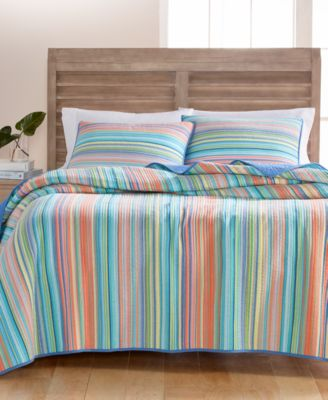 CLOSEOUT! Tropical Yarn Dye 100% Cotton Full/Queen Quilt, Created for Macy's