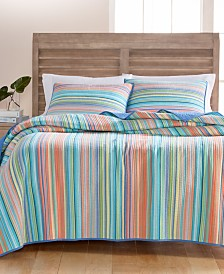 CLOSEOUT! Martha Stewart Collection Tropical Yarn Dye 100% Cotton Quilt and Sham Collection, Created for Macy's