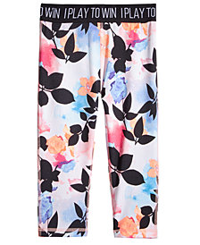 Ideology Tropical Floral-Print Cropped Leggings, Little Girls, Created for Macy's