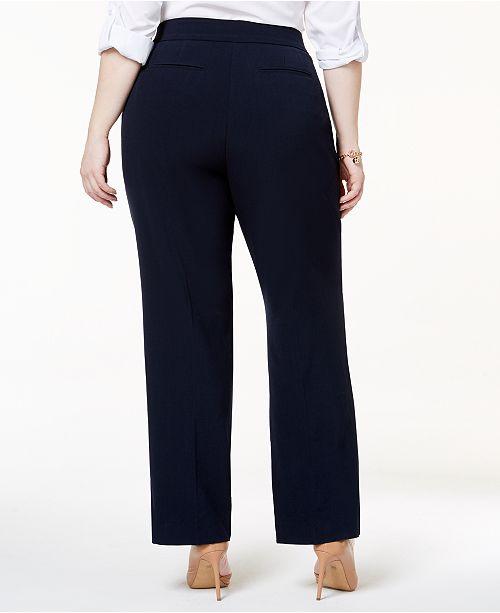 7443a0dd86a JM Collection Plus   Petite Plus Size Curvy-Fit Straight-Leg Pants ...