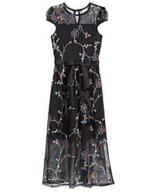 Monteau Embroidered Maxi Dress, Big Girls