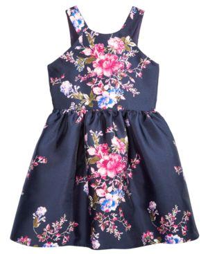 Crystal Doll Floral-Print Dress, Big Girls 5701025