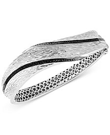 EFFY® Diamond Textured Bangle Bracelet (3/8 ct. t.w.) in Sterling Silver