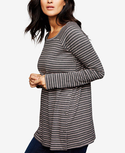 A Pea In The Pod Striped Nursing Top