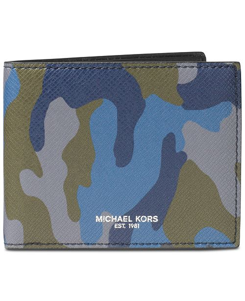 c1c6f947831a Michael Kors Men s Harrison Bangor Camo-Print Slim Wallet   Reviews
