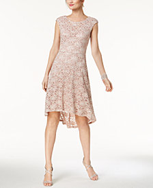 Connected High-Low Lace Dress