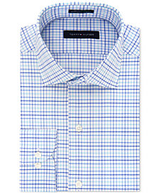 Tommy Hilfiger Men's Classic/Regular Fit Non-Iron Performance Stretch Check Dress Shirt